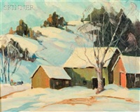 country house in winter by robert shaw wesson