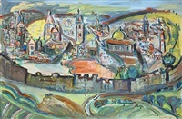 view of jerusalem by david messer