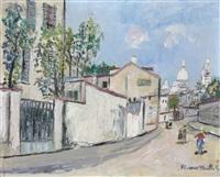 rue de l'abreuvoir à montmartre by maurice utrillo