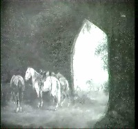 reitpferde im stall by joseph wilhelm melchior