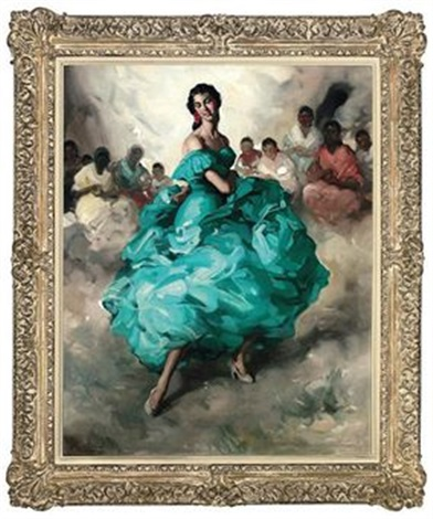 flamenco dancer by felipe abarzuza y rodriguez de arias