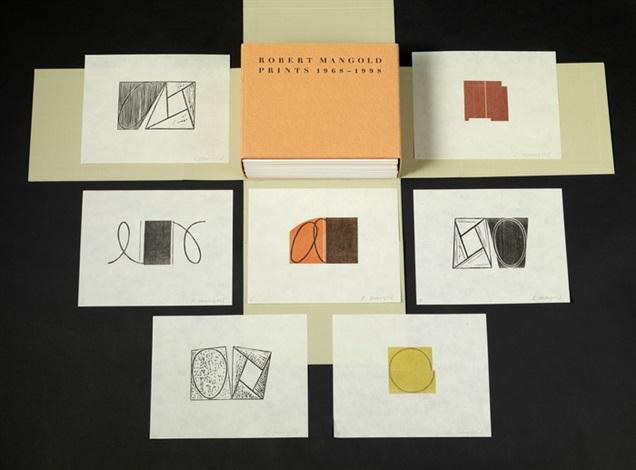 catalogue raisonné prints 1968 1998 catalogue raisonné wset of 7 by robert mangold
