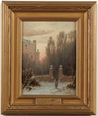 the old estate in winter and to christmas service (a pair) by thomas lochlan smith