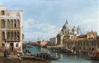 der canal grande nach osten mit blick auf die kirche santa maria della salute by bernardo bellotto