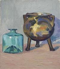 le chaudron en bronze by alberto magnelli