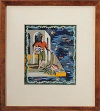 un projet de tapisserie représentant le retour de pêche by charles alexandre picart le doux