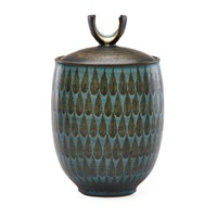 lidded vessel by harrison mcintosh