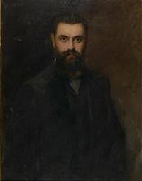 portrait theodor herzl by joszi arpad koppay