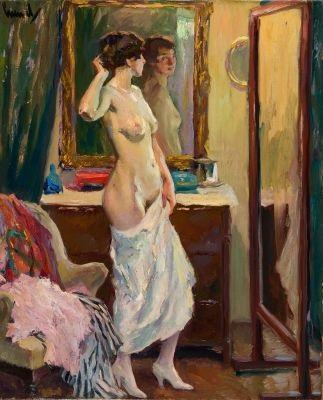 vorm spiegel by edward cucuel