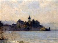 wasserburg, bodensee by franz löffler