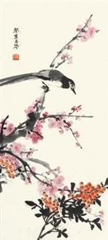 红梅飞雀 by zhang zhengyin