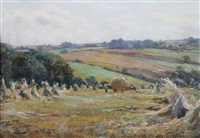 harvest nr whitby yorks (+ end of the quay whitby; 2 works) by walter emsley