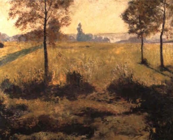 zonnig landschap by franz van holder