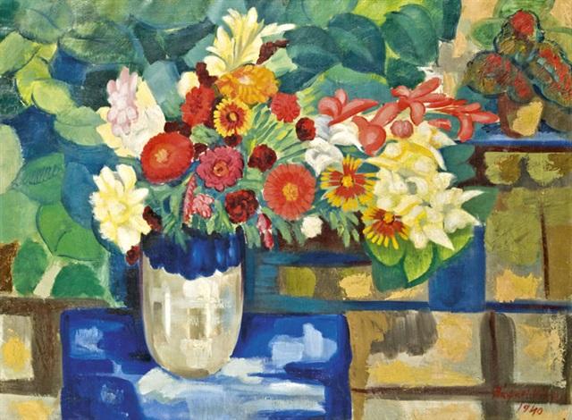 virágcsendélet by viktor rafael gyözö