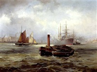 lighters in blackwall reach by robert ernest roe
