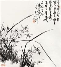 兰花 立轴 纸本 by jiang fengbai