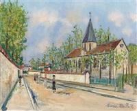 eglise d'eaubonne by maurice utrillo