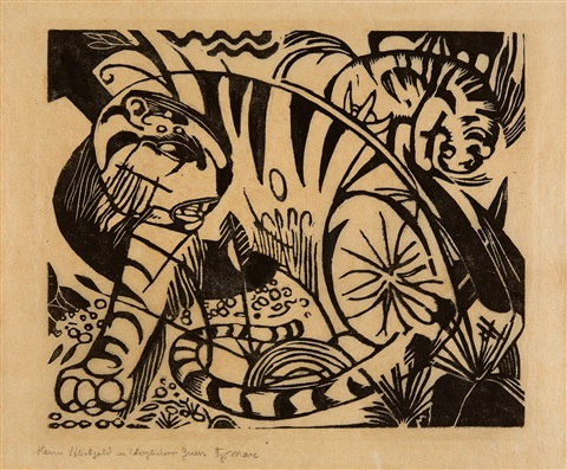 tiger by franz marc
