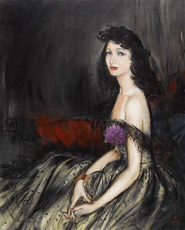 porträt einer eleganten dame by rené gruau