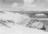 annisquam beach scene by augustus w. buhler
