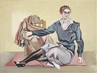femme au bas noir by alberto magnelli