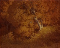 autumn beechwood by carl woolsey