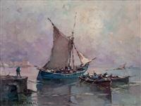 marina con barche by nicolo de corsi