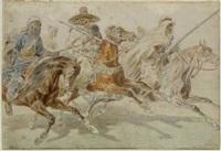 arabische reiter by otto clemens fikentscher