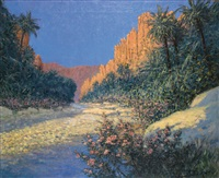 les gorges d'el-kantara (algérie) by georges victor laurent dantu