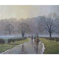 early morning gallop by neil cawthorne