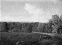 landskapsutsikt med dovvilt by carl anton saabye