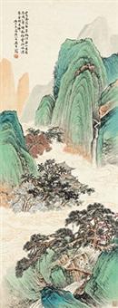携琴访友 镜心 纸本 by wu qingxia
