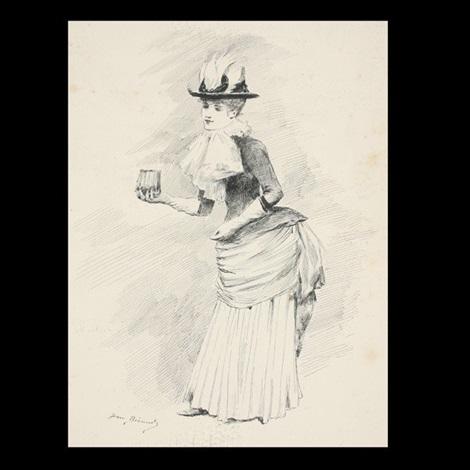 elegante au des gants by jean béraud