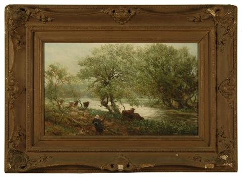 cattle by a river by alexander young