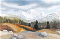 untitled - stormy mountain view by wendy wacko