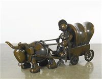 covered wagon by tom otterness