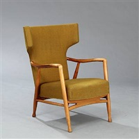 wingback easy chair by eva koppel
