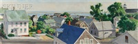 view from my studio, alternatively titled provincetown rooftops by george yater