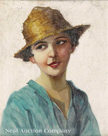 portrait of young neapolitain girl by adolf j jelinek alex