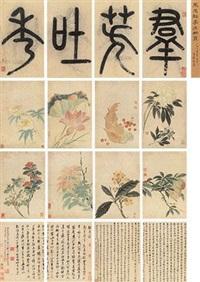 群芳吐秀 (album of 8) by ma yuanyu