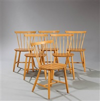 beech chairs model j46 (set of 6) by poul volther