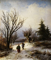 winterlandschaft by hendrik manfried haus