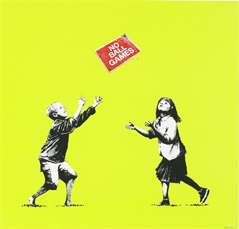 no ball games by banksy