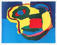 composition with face by karel appel