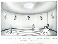 the children's pavilion - architectural plan interior spatial view by jeff wall and dan graham