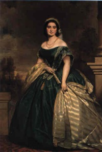 portrait of empress charlotte of mexico by joseph mathäus aigner