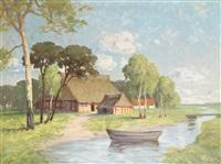 bauerngehöft im moor by emy rogge