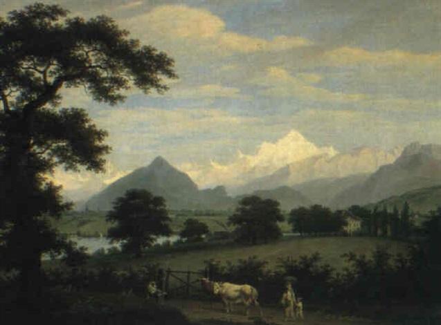 vue du mont blanc et une partie de genève pris depuis pregny by frédéric fregevize