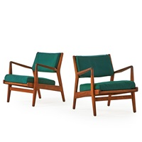 lounge chairs with arms (pair) by jens risom