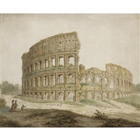 rome, a view of the colosseum by simone pomardi